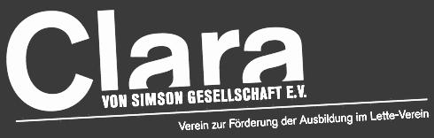 Clara von Simson Logo